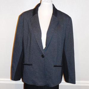 Size 4 20 Chico's Gray Black Stretch Dress Jacket